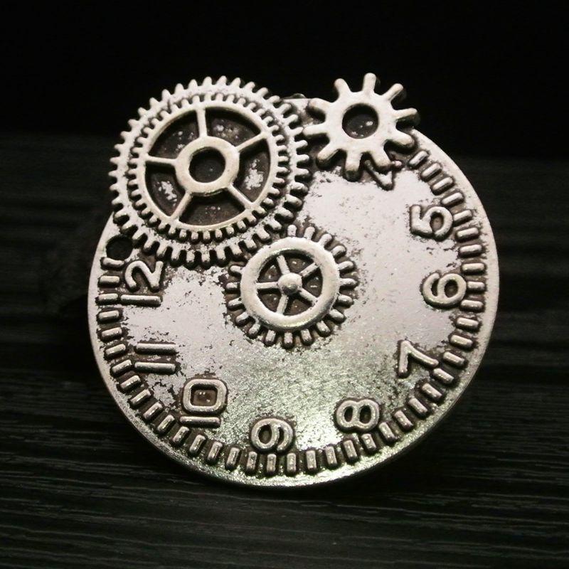 15pcs Exquisite gear digit fashion charms Antique silver bronze pendants  49*43MM bag craft Jewelry earring bracelet necklace