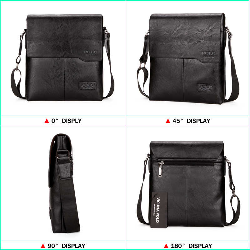 4989e3a5a ... VICUNA POLO erkek omuz çantası Klasik Marka Erkek Çanta Vintage Tarzı  Rahat Erkek postacı çantası Promosyon ...