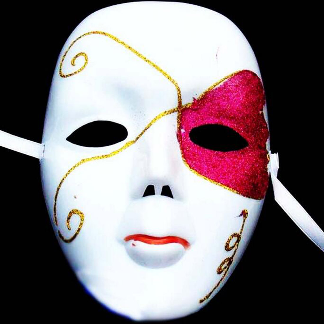DIY Scary White Face Mask Halloween Masquerade Ball Party Costume ...
