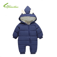 Baby Rompers Winter Jackets For Baby Girls Clothing Spring Autumn Coats Rabbit Ear Style Overalls For