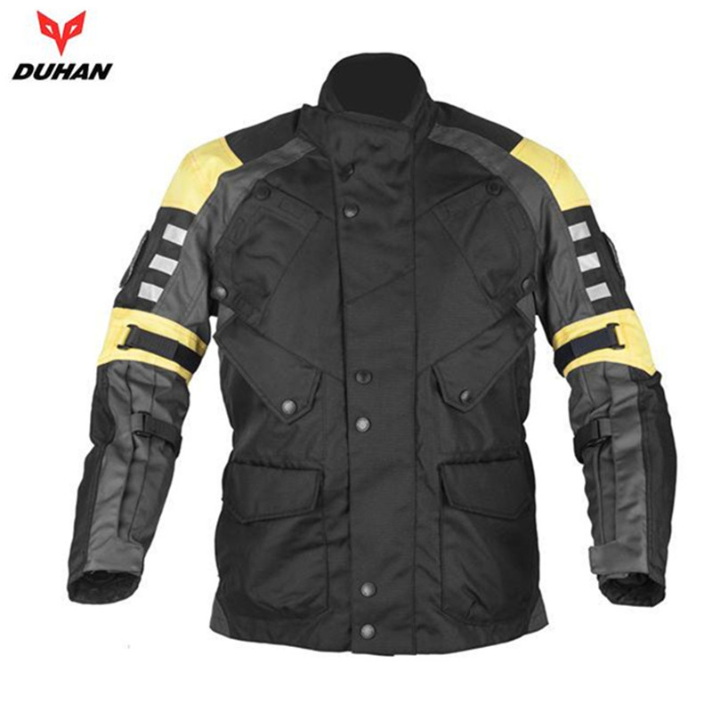 DUHAN Professional Motorcycle Racing Jacket Men s Motocross Off Road Windproof Clothes Body Protective Moto Jacket