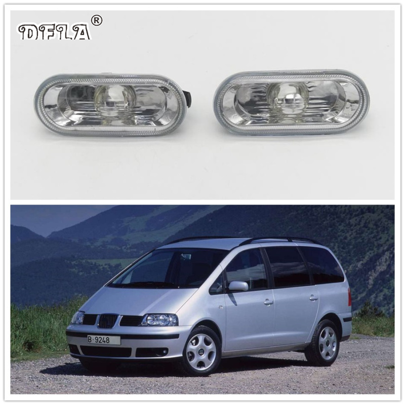 2pcs For SEAT Alhambra 2001 2002 2003 2004 2005 2006 2007 2008 2009 Car-Styling Side Marker Turn Signal Light Lamp Repeater funeral for a friend your history is mine 2002 2009