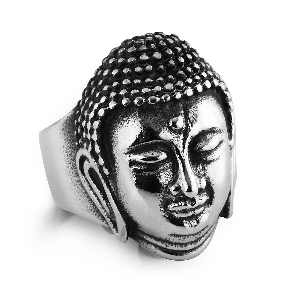 Men's Buddha Stainless Steel Ring 3