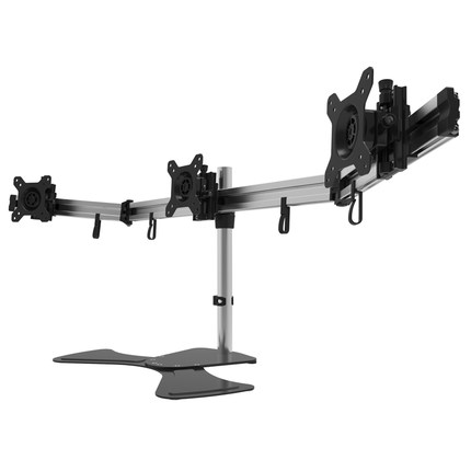 Aluminum Alloy 15-27 inch Triple Monitor Holder Desktop Stand Full Motion Seamless Screen Monitor Mount Bracket MP230SLAluminum Alloy 15-27 inch Triple Monitor Holder Desktop Stand Full Motion Seamless Screen Monitor Mount Bracket MP230SL