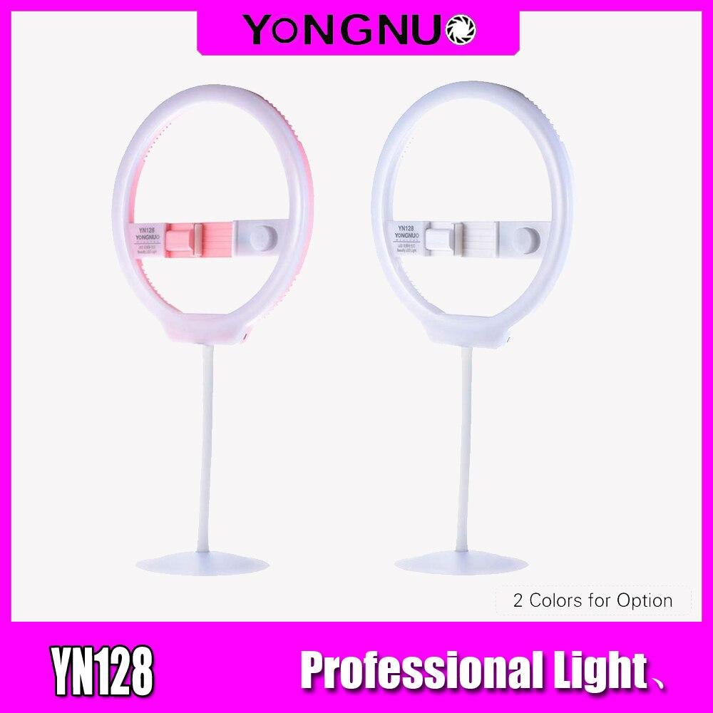 YONGNUO YN128 Selfie anneau lumière caméra Photo Studio téléphone 128 LED anneau lumière 3200-5500 K photographie Dimmable anneau lampe Ringlight