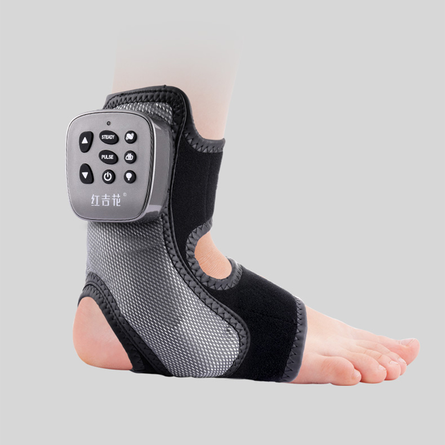 Wireless Multi-frequency Foot Massager Ankle Joint Massage Ligament Strain Repair Meridian Kneading Physiotherapy Hot Compress dynamic bodyuse for effective strain free massage