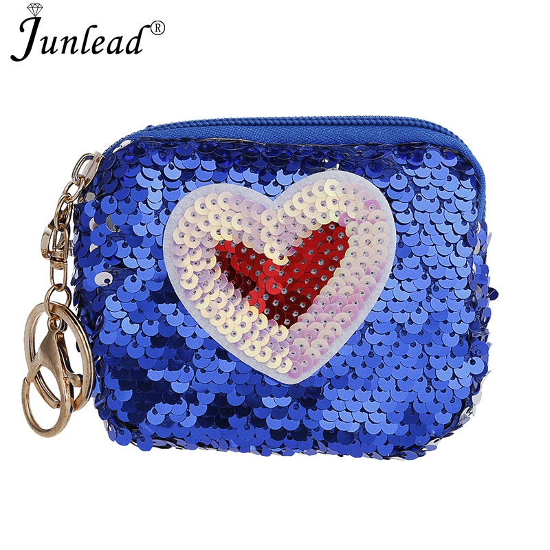 Detail Feedback Questions about Junlead Sparkly Sequins Female Heart Love  Cheap Coin Purse Pocket Change Wallet For Women Key Chains Cute Fancy Card  Coin ... 8ab209eb8a1d