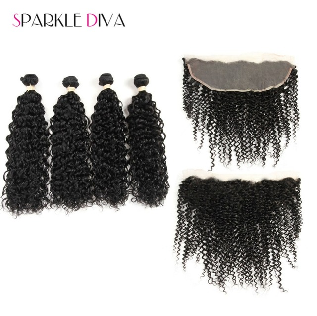 Top Quality 8A13x4 Lace Frontal With Bundles 5PCS Malaysian Curly Hair With Closure Ms Lula Hair With Frontal And Bundles