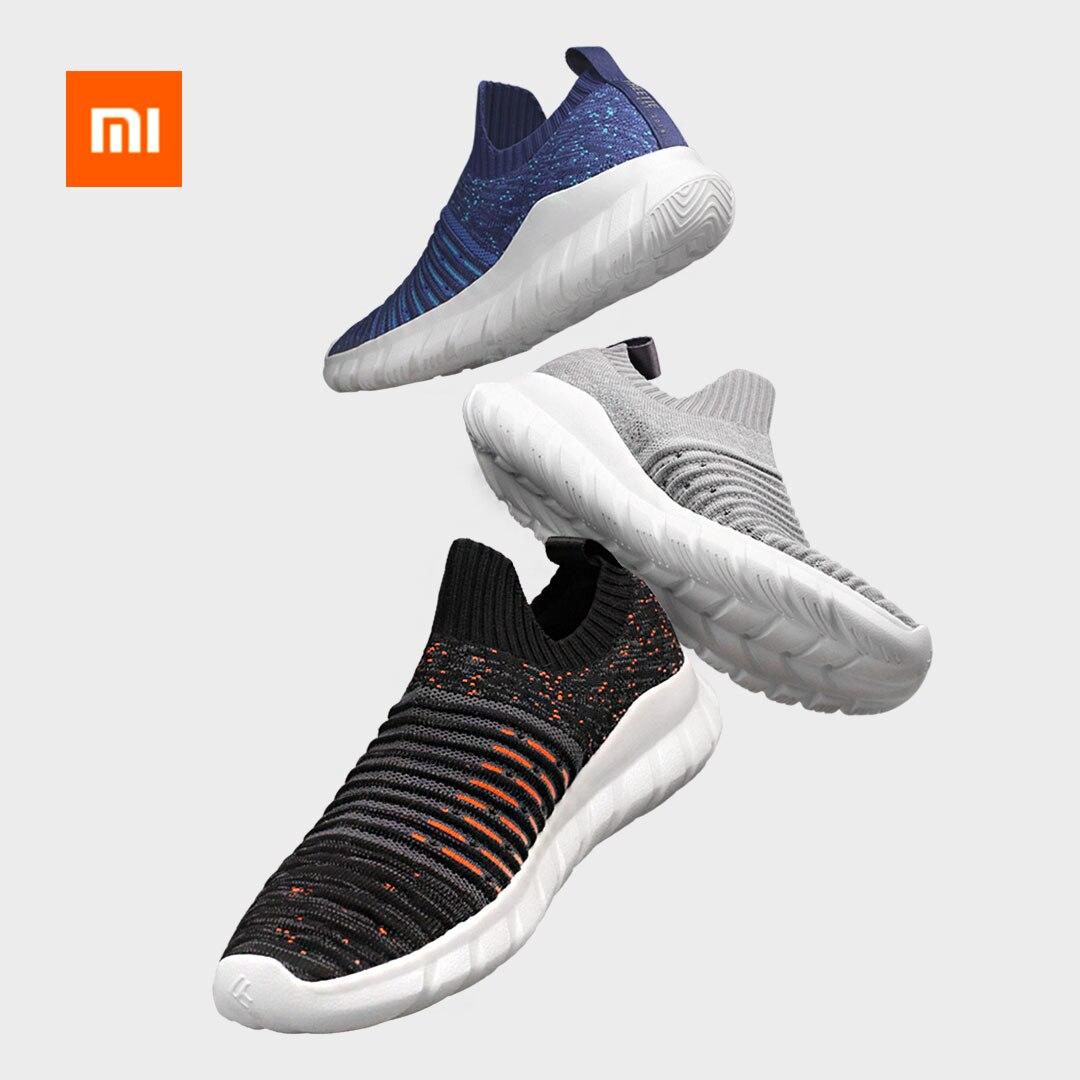 Original xiaomi mijia FREETIE volant tissé chaussures de marche léger respirant hommes de haute qualité chaussures décontractées smart