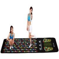 Medialbranch Colorful Plastic Foot Massager Pad Acupuncture Cobblestone Yoga Mat 175*35cm (Masajeador de pies Masajeador de )