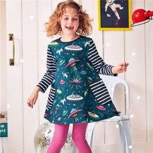 Girls Cotton Vestidos Dress 2019 New Brand Christmas Kids Party Casual Tutu Children Autumn Winter Dresses