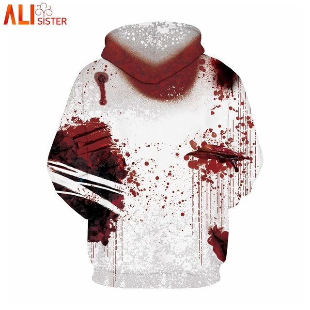 Alisister I'm Fine Horror Wound 3d Hoodies  3