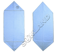 SINLAND Ultra Absorbent Microfiber Pet Towel with Embroidered Paw print 16 Inchx40 Inch 2 Colors 100 Pieces