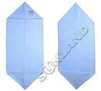 Sinland microfibra ultra absorbente toalla mascota con pata bordado 16 pulgadas x 40 pulgadas 2 colores 100 unidades