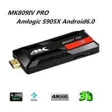 New MK809IV-4K Android 6.0 Amlogic S905X VP9 HDR 4K H.265 64BIT TV Stick Kodi 16.0 Preinstalled 1GB 8GB DLNA AirPlay Tv Dongle