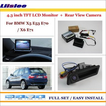 Auto Camera For BMW X5 E53 E70 X6 E71 In Car 4.3 Color LCD Monitor Rear Back Up Camera Park Parking System image