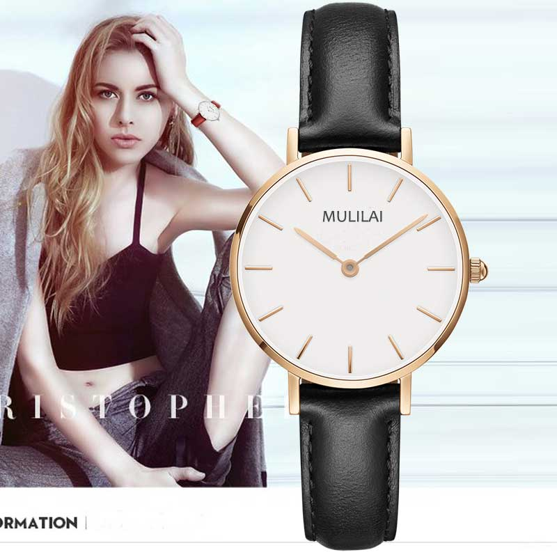 New Women 32mm Fashion dw style Watches Brand Women Quartz Wrist Watch Female Needle leather Wristwatch relogio feminino