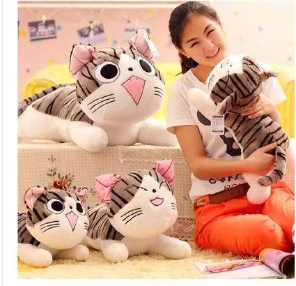 Free shipping 40cm  Japan anime figure cheese cat plush stuffed toy doll pillow cushion ,Christmas birthday new year gifts