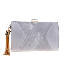 New Banquet Metal Tassel Lady Clutch Cross Body Bags Fashion Tasteful Chain Wedding Party Clutches Evening Bag