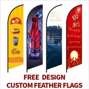 Image 1 - フェザー旗ビーチフラグとバナーグラフィックカスタム印刷交換プロモーションお祝い屋外広告装飾