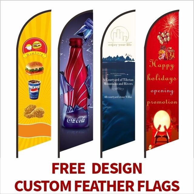 フェザー旗ビーチフラグとバナーグラフィックカスタム印刷交換プロモーションお祝い屋外広告装飾