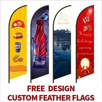 Bandera de plumas banderas de playa y Banners gráfico personalizado impresión reemplazo promoción celebración publicidad al aire libre Decoración