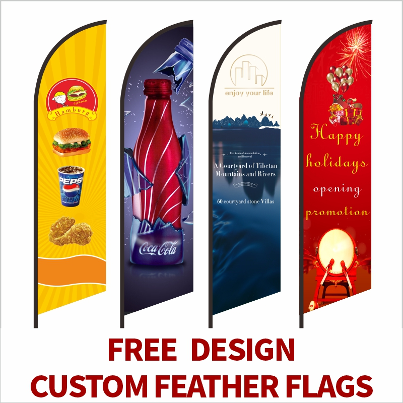 Feather Flag Beach Flags And Banners Graphic Custom Printing Replacement Promotion Celebration Outdoor Advertising Decoration