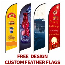 Feather Flag Beach Flags And Banners Graphic Custom Printing Replacement Promotion Celebration Outdoor Advertising Decoration(China)