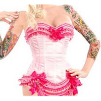 Hot Fancy Free shipping Sexy New Burlesque Corset Top Basques Sets Corsets Tops Lady Costume Lace up Corsets And Bustier