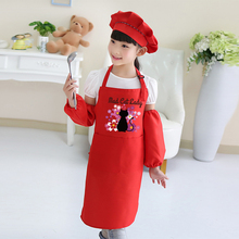 Apron Art-Painting Cooking-Baking-Clothes Smock-Print-Logo Kindergarten Baby Child Cute