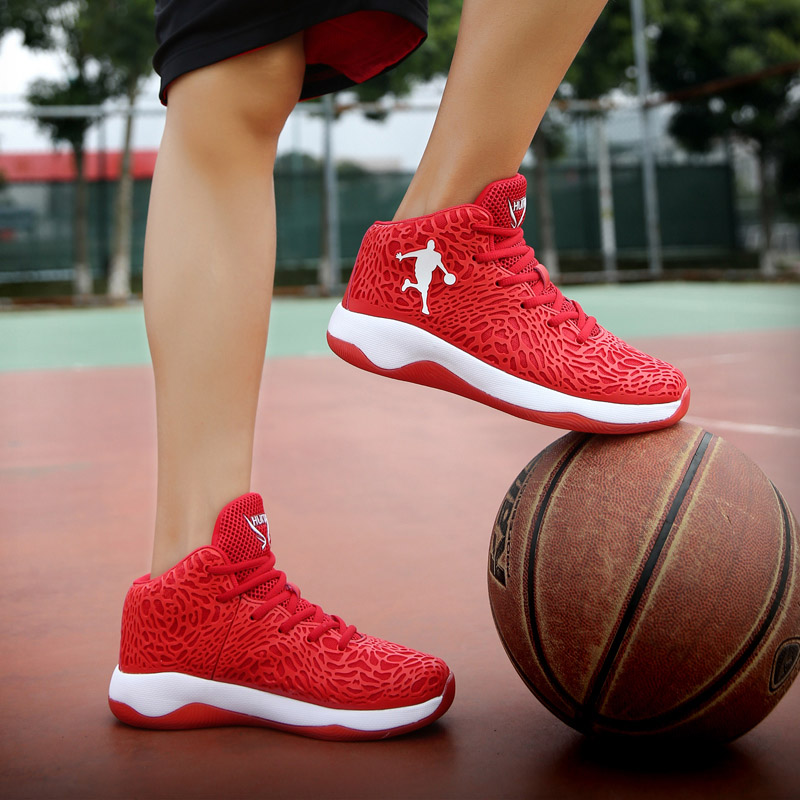 Image 5 - Man Light Jordan Basketball Shoes Air Breathable High Top Basketball Sneakers Men Big Size 46 47 Outdoor Sports Gym Ankle Boots-in Basketball Shoes from Sports & Entertainment
