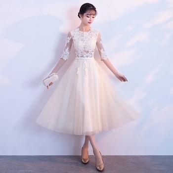 Vestido de fiesta Oriental Mujer elegante Cheongsam Delgado estilo chino novia boda largo Qipao Vestido de lujo Vestido XS-XXL
