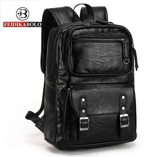 European and American style Solid high quality Genuine leather men backpack shoulder bag Schoolbag computer Travel bag 6002-F