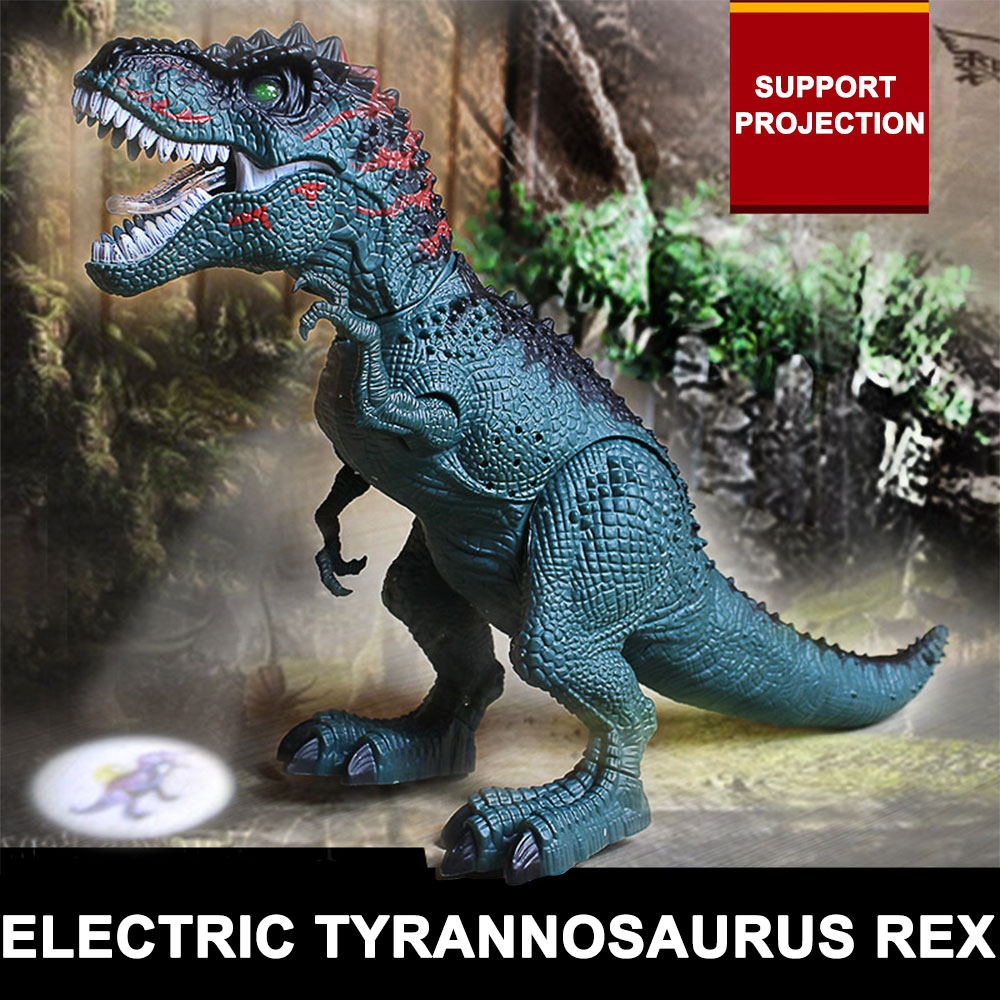 Peardix Dinosaur Simulation Laying Eggs Tyrannosaurus Plastic Xmas Electric Flashing Gifts Kids Funny Tyrannosaurus Rex Toys