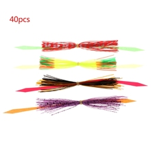 1 Set Fishing Skirts PVC Silicone Band Rubber Jig Squid Lure Spinner Bait Thread 5 bundles 30 strands silicone skirts fishing accessories diy spinnerbatis buzzbaits rubber jig lures salty squid rubber