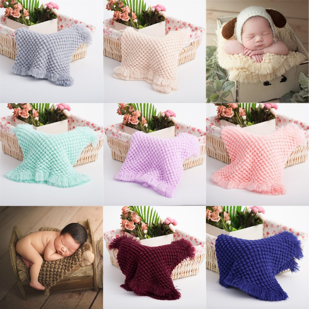 Newborn Photography Props Blankets Studio Baby Blanket Photography Knit Photo Prop Accessory Infant Cushion Photo Accessories