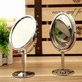 Criativo de Metal Espelho de Maquilhagem espelho de Maquiagem Desktop Espelho Reversível Pequeno Espelho Rotativo 1: 2 Função de Ampliação
