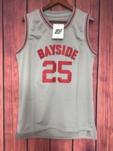 0fb4d3effe3 EJ Zack Morris 25 Bayside Tigers Basketball Jersey Saved By The Bell Gray  S-3XL