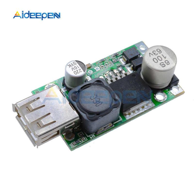 Lm2596hv DC-DC step down buck 5 v usb carregador conversor módulo 9 v 12 v 24 v 36 48 v a 5 v 3a 15 w