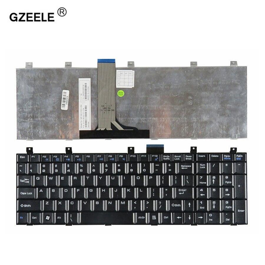 GZEELE US Laptop Keyboard For MSI GX620 CR500 CR600 CR720 CR610 EX600 EX625 M662 M670 1600 1656 VX600 CX500  Black English