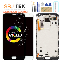 For MEIZU MX5 LCD Display Tested 5.5'' AMOLED For MEIZU MX5 LCD Display Touch Screen Digitizer Replacement