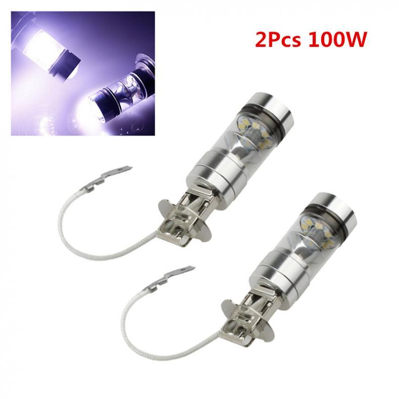 цена на 2PCS 12 V 100W H3 LED bulb 20 SMD Car Fog light Chips 12V ~ 24V 360 Degrees White Car Electronics
