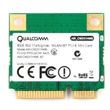 להקה כפולה Atheros WiFi Bluetooth כרטיס 433 Mbps Qualcomm AW CM251HMB 802.11a/b/g/n/ac 2.4 /5G BT 4.0 אלחוטי מיני PCI E Wlan