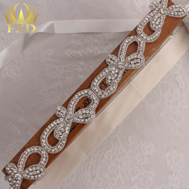 (10yards) Wholesale 1 Yard Hot Fix Sewing Beaded Crystal Rhinestone  Appliques Trim for Wedding 329549749c6d