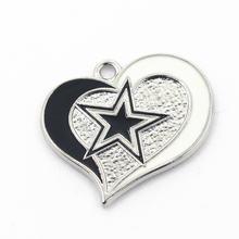 12 шт/лот Новые Подвески в форме сердца и звезды diy браслет