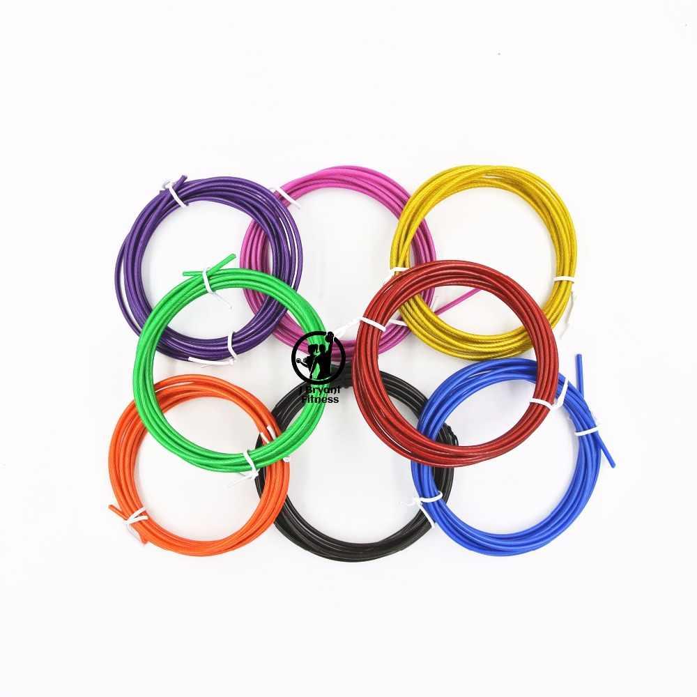 スペアロープ 3 メートルクロスフィット交換可能なワイヤーケーブル速度プロスポーツジャンプロープはロープの色赤、青、黒鋼線
