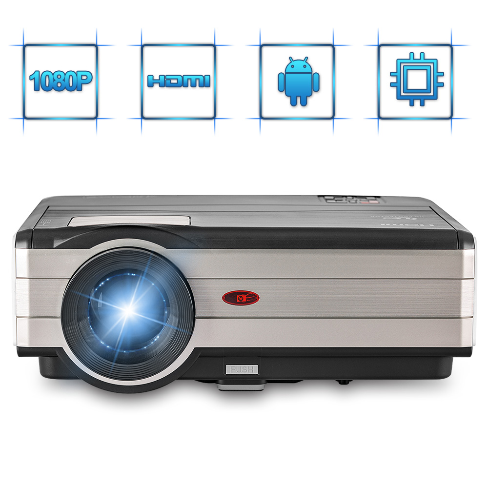 CAIWEI LCD Digital HD Video Projector Android WiFi Home Theatre Proyector LED Be