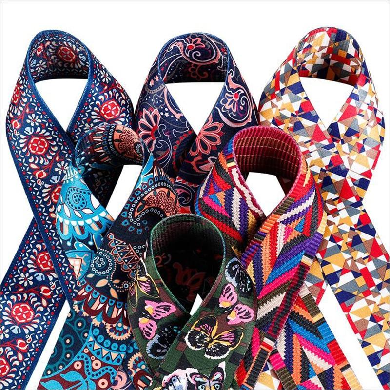 2019 New 100cm Printing Replacement Shoulder Bag Straps Colorful Canvas Purse Handles for Handbags Belt Bag Accessories 031