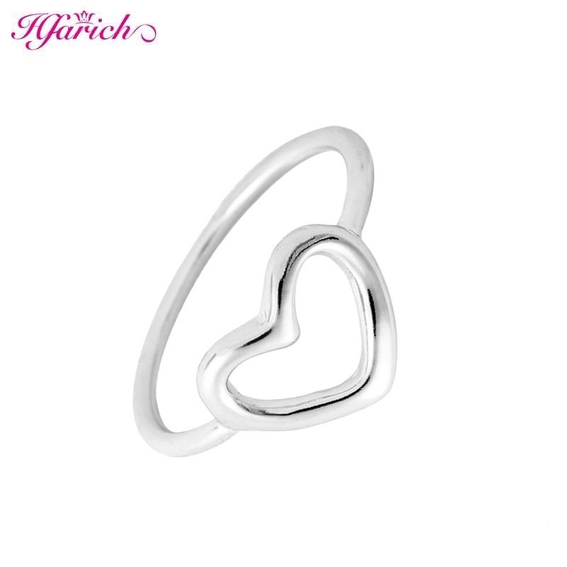 Hfarich Brand Best Friends Love Heart Shape Charm Ring Feminino Midi Toe Bague Friendship Eternal Forever Best Gifts Dropshiping