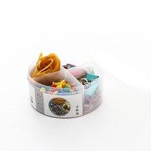Лучшие Творческий набор канцелярских принадлежностей школьные канцелярские товары стол Бумага клип резинкой Pin комплект